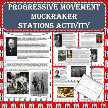 Progressive Movement Era - Muckraker Primary Source Stations Activity