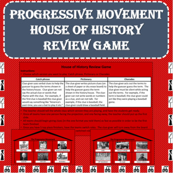 Progressive Movement House of History Review Game