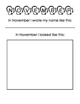 Progressive Name Writing and Self-Portraits