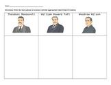 Progressive President Graphic Organizer/Summarizing Activity
