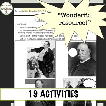 Progressive Presidents Readings and 16+ Activities Bundle SAVE