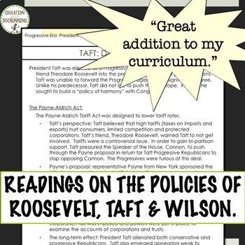 Progressive Presidents Readings and 15+ Activities Bundle SAVE