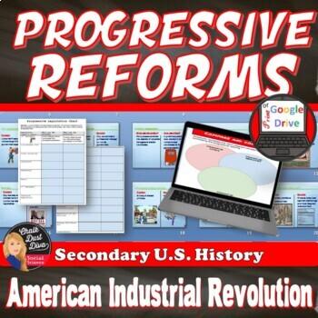 Progressive Reforms Activity -The Industrial Revolution Print and Digital