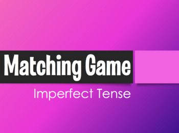 Spanish Imperfect Matching Game