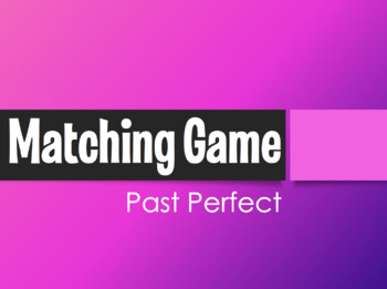 Spanish Past Perfect Matching Game