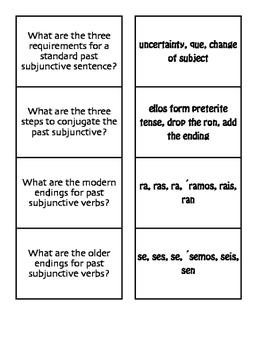 Spanish Past Subjunctive Matching Game