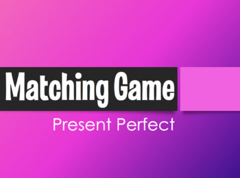 Spanish Present Perfect Matching Game