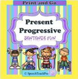Present Progressive Sentence Structure: Sentence Fun