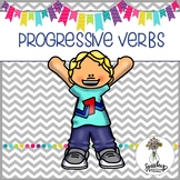 Progressive Verbs and Pronouns Interactive Packet