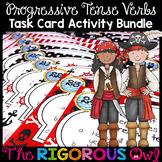 Progressive Tense Verb Task Cards L4.1b