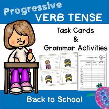 Progressive Tense Verbs - Back to School