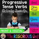 Progressive Tense Verbs Activity Bundle