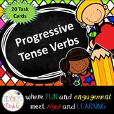Progressive Tense Verbs Task Cards (Scoot)