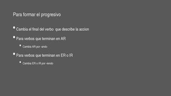 """Progressive Tense in Spanish """"-ing"""""""