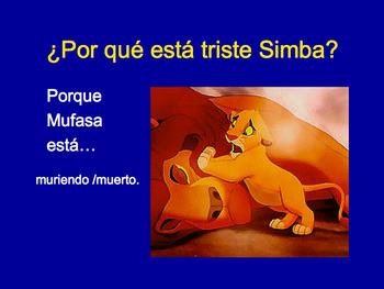Spanish Progressive Tenses or Gerund PowerPoint & Interactive Notebook Activity