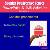 Spanish Progressive Tenses or Gerund PowerPoint & Interactive Notebook Activity