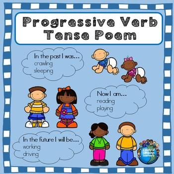 Progressive Verb Poem: Past, Present, and Future Graphic O