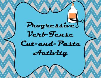 Progressive Verb Tense Cut-and-Paste Sorting Activity