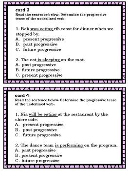 Progressive Verb Tense Exit Slips
