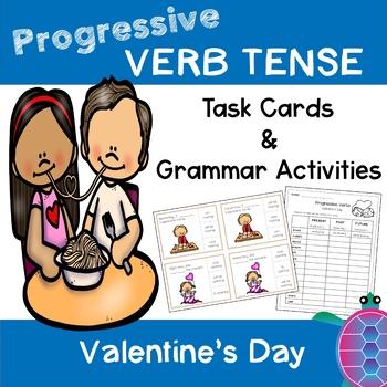 Progressive Verb Tense - Valentine's Day