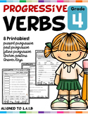 Progressive Verb Tenses L.4.1.B Worksheets Distance Learning