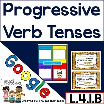 Progressive Verb Tenses Interactive Notebook Google Drive Activities L.4.1.B