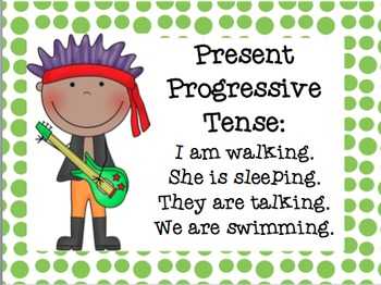 Progressive Verb Tenses- Past, Present, Future (Powerpoint and Practice) L.4.1b