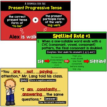 Progressive Verb Tenses PowerPoint