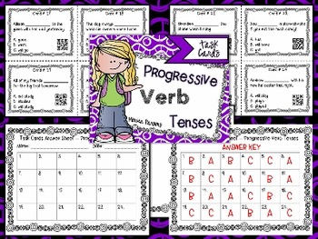 Progressive Verb Tenses Task Cards