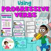 Progressive Verbs Bundle - PowerPoint and Activities