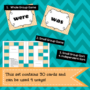 Progressive Verbs Game/Sort Pack