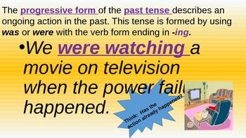Progressive Verbs:  The Powerpoint