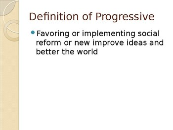 Progressive or Not? Game