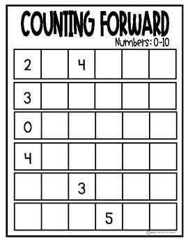 Counting Forward Worksheets