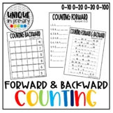 Counting Forward & Backward Worksheets Differentiated! (0-10, 0-20, 0-30, 0-100)
