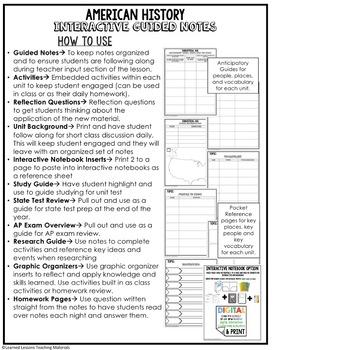 Progressives Guided Notes & PowerPoints, US History, Print, Digital, Google