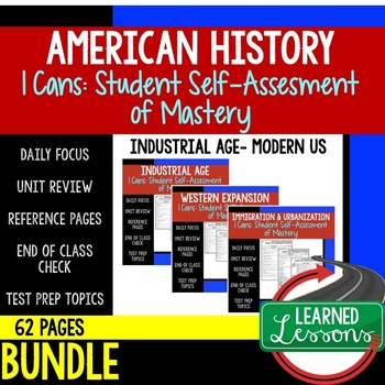 Progressives I Cans Student Self Assessment Mastery-- American History