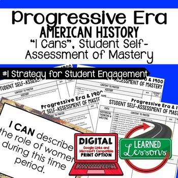 Progressives I Cans Student Self Assessment Mastery-- Amer
