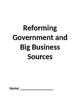 Progressives Reform Government and Monopolies Inquiry Common Core