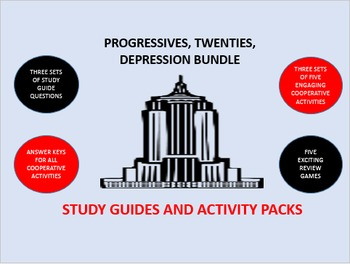 Progressives, Twenties, Depression Bundle: Study Guides and Activity Packs