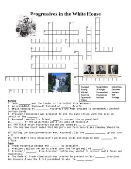 Progressives in the White House Crossword or Web Quest