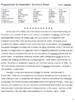 Progressivism & Imperialism Summary Sheet