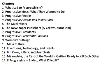 Progressivism & Mass Culture, 1880-1920 Study Guide KEY