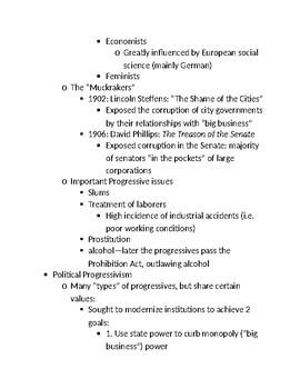 Progressivism Notes