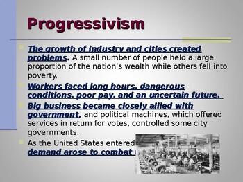Progressivism & Reform - The Children, Women & African Americans