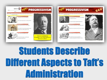 Progressivism Under William Howard Taft Digital Activity