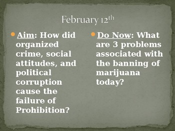 Prohibition PowerPoint