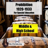 Prohibition Unit for Special Education with complete lesson plans