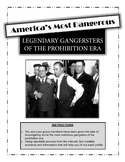 Prohibition and American Gangsters:  Legendary Gangsters o