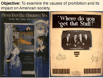 Prohibition and the 18th and 21st Amendments PowerPoint Presentation